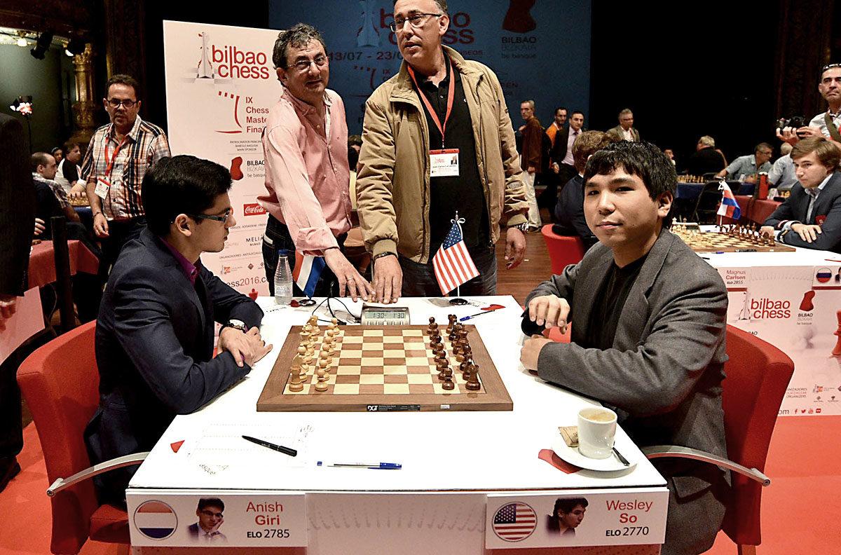 Wesley So Beats Anish Giri in Round 8 Bilbao Masters Final 2016