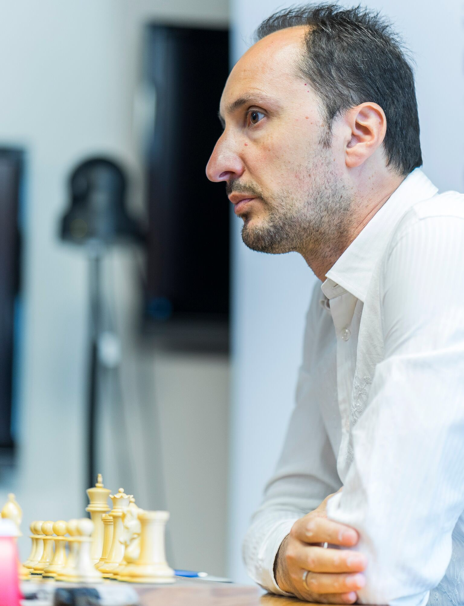 Veselin Topalov leads the pack after Round 5. Photo credit: Grand Chess Tour