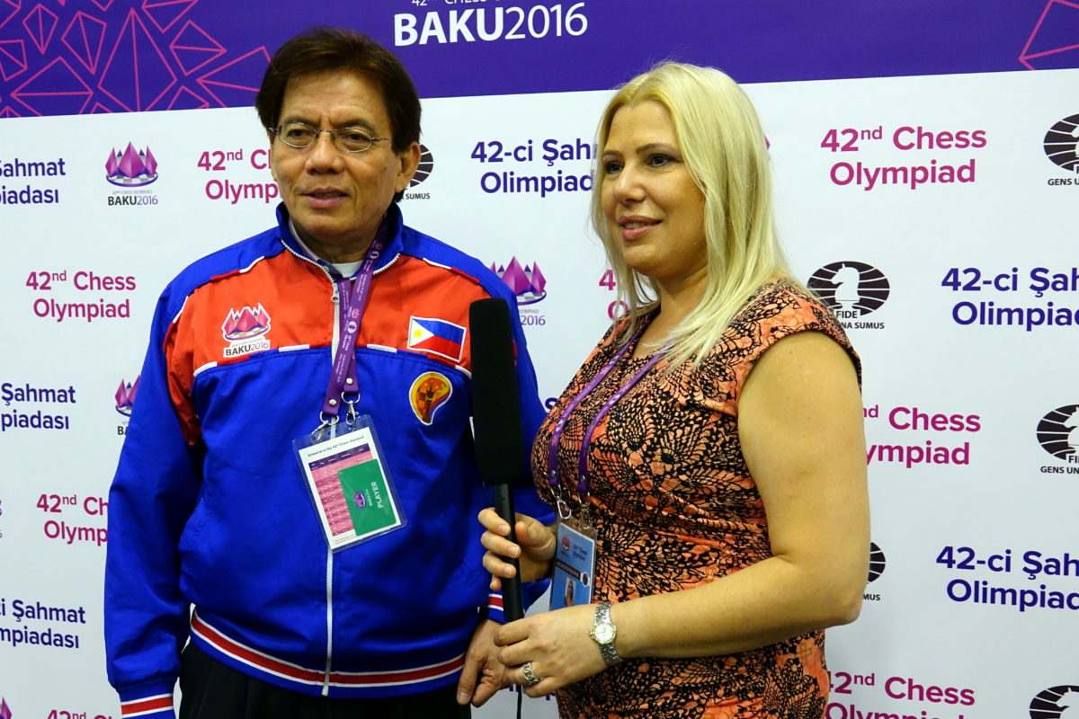 Philippines vs. Paraguay Round 2 Results – Baku 2016 Chess Olympiad