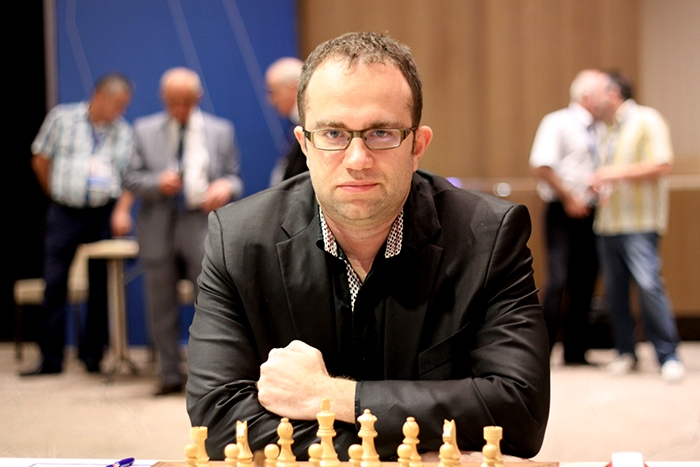 Pavel Eljanov in Baku Chess Olympiad. Photo by Baku Chess Olympiad.