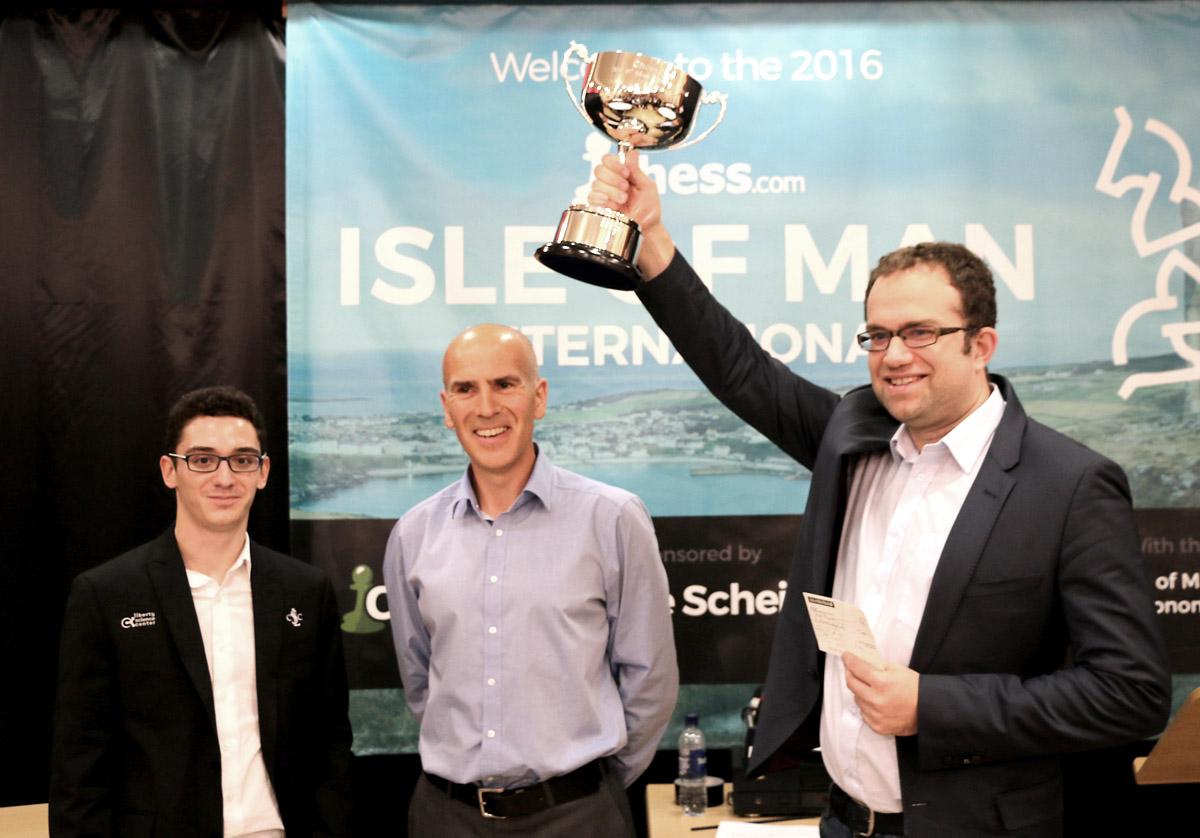 Eljanov wins the Isle of Man 2016. Photo courtesy of Chess.com.