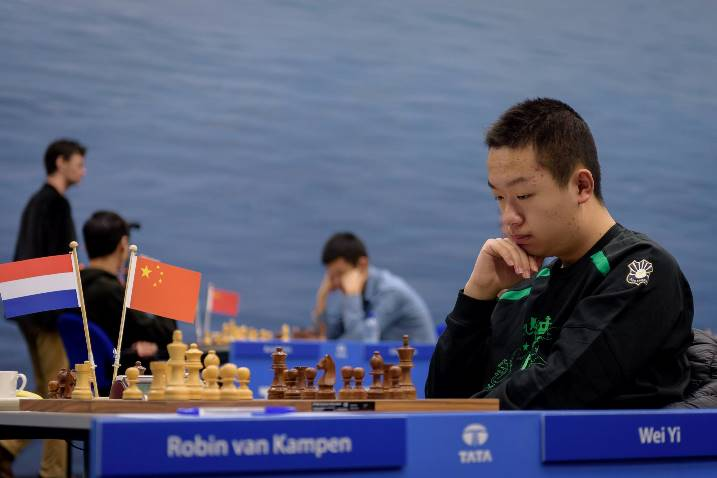 Wei Yi Wins in Round 11 Tata Steel Masters 2017