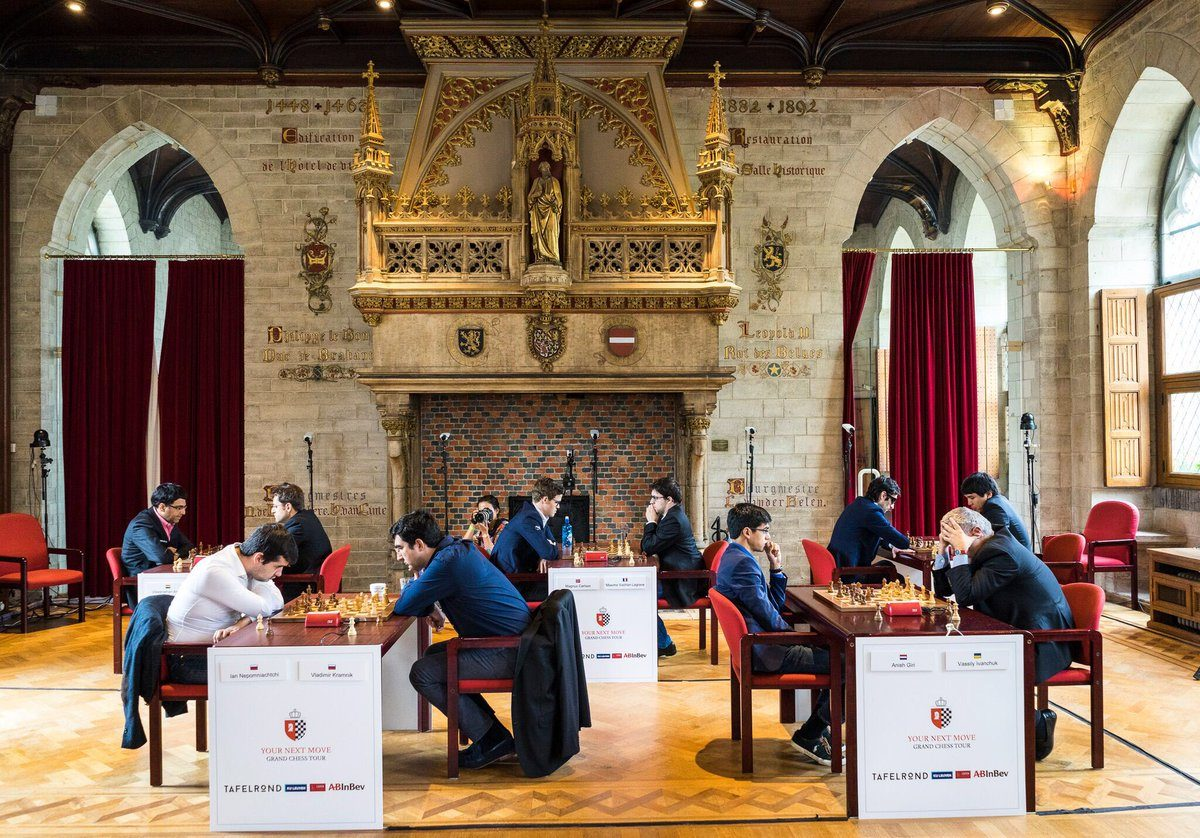Wesley So defeated former and current world champions and leads Leuven after 6 rapid rounds