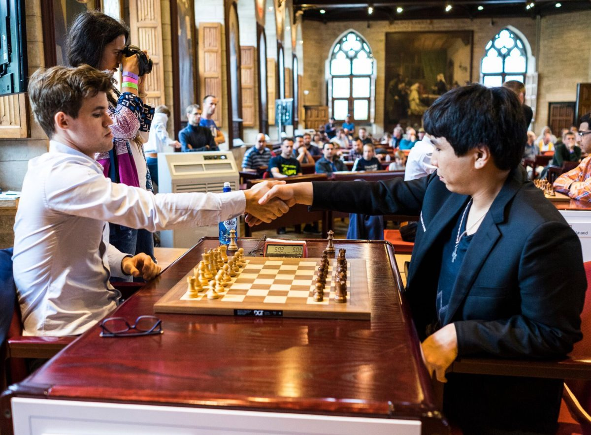 Carlsen and So tied for first place before the final Day 2 of blitz games in Your Next Move 2017
